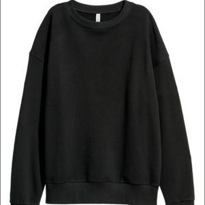 H&M Black Sweatshirt XL